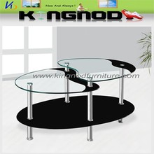 low price oval glass center coffee table