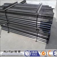 New Zealand Market steel high quality black bitumen painted black star picket different types picket fences
