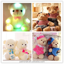 New arrival! 2015 popular kids favourite LED/LCD Phoebe toys embroidery design custom plush toy