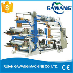 High Speed Four Colour Plastic Shopping Bag Flexo Printing Machine