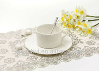 White cheap tea cups and saucers