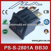 t85 momentáneo del interruptor del eje de balancín doble interruptor basculante
