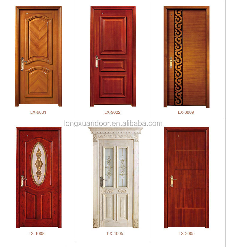2015 solid wood door wood bedroom door teak wood main
