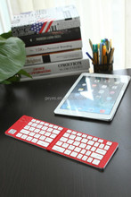 Ultra Slim folding bluetooth keyboard with aluminum cover, For iPad and iPhone mini wireless bluetooth keyboard