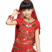 Belly Dance top dance Costume Kid's girl's children KID beads coins top Blouses & Tops,Shirts,Tank Top Product Type Children Age