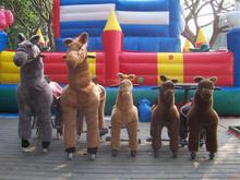 Kids plush horse ride-on