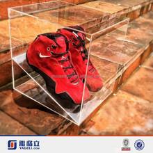 China handmade clear popular Nike shoes best design plexiglass/ acrylic shoe box with custom logo