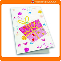 A Small Gift Box In Birthday Greeting Card