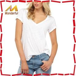 Top Sale!! New Fashion V Neck Girls Sexy T Shirt