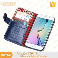 BRG For Samsung S6 edge Case, Wallet Fashion leather flip phone case