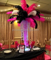 Red white black ostrich feather for Party decoration centerpiece