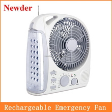 Good quality 8 inch handy rechargeable fan with handle