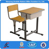 single adjustable school wood desk and chair