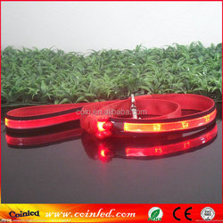 Flashing LED Pet Dog Puppy Collar Traction Rope Safety Walking invisible dog leash Lead Tether