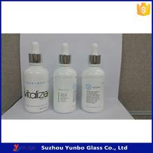 50ml Custom White Glass Bottles For Cosmetic Packaging