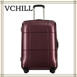 Graceful shiny surface trolley travel time luggage