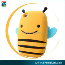 wholesale cute little bee 3d silicon animal case for apple iphone 5 5s
