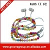 2015 Newest fashional Diamond pearl chain lover earbuds