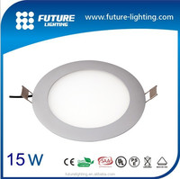 Indoor ultra thin suspended 15W small led round panel light , led flat panel lighting