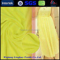 75d polyester dying chiffon fabric for abaya