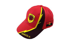 Contrasting Perforated Mesh Applique Embroidery Baseball Cap