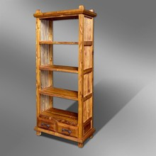 SLATTED DESIGN BOOK SHELF IN TEAK