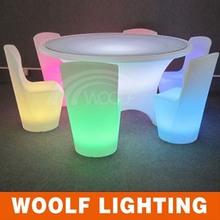 Illuminated Plastic Grand Banquet LED Restaurant Furnishing