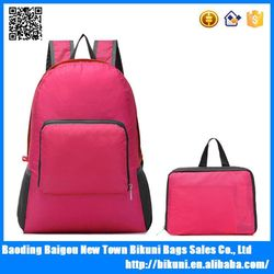 China supplier high quality nylon hiking big size folding backpack teenager girls foldable backpack bag