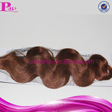30 inch cheap body wave brazilian remy human hair weft color 350