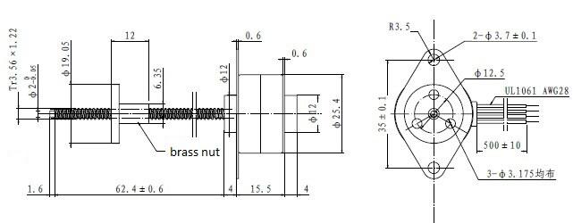 25 mm 12 v moteur pas  u00e0 pas micro moteur lin u00e9aire