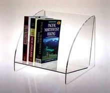 wholesale equisite clear wall mounted acrylic book shelf