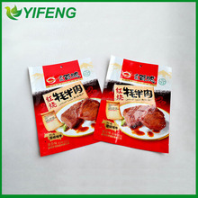 stand up zipper bag for beef snack packaging
