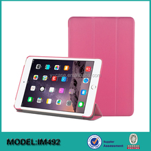 New Design leather stand smart back cover case for iPad mini 4 tablet case