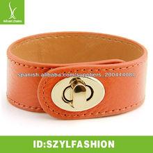 2013 estilo elegante pulsera de cuero pulsera con hebilla de oro