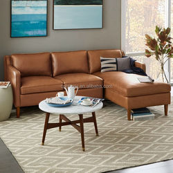 High Quality 2-Piece Leather Chaise Sectional Sofa for Sale