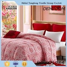 2015 New Fashion soft quilt plain style comforter silk quilts with flower