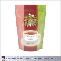 Plastic tea packaging stand up pouch/tea zipper bag/tea ziplock pouch