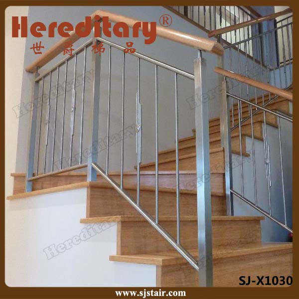 Simple customize design stainless steel stair handrail for Simple railing design for balcony