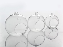 Clear Glass bauble candle holder wedding centerpieces Tealight holder flower vase