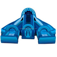 PVC inflatable water slide,commercial inflatable dry/wet slide