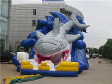Contemporary shark theme inflatable stair slide for kids and adults
