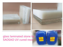 UV cured adhesive glue for stone laminated with glass