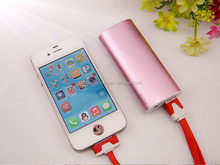 (sl)Universal 2600mah Portable Mini Mobile Phone Power Bank USB Banks Emergency External Battery Charger for iphone 4 6