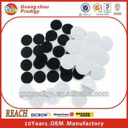 nylon adhesive velcro circle dots/black and white color velcro dots