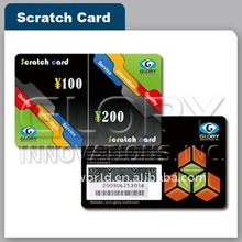 Scratch Prepaid Phone Card With Blow The Printing Ink