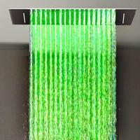 bathroom led shower head led light color change shower head 360*500mm rainfall and waterfall led shower head