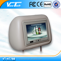 7 inch digital TFT screen headrest taxi monitor with body sensor design