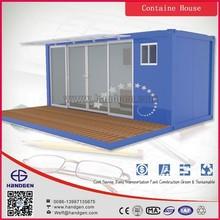Big glass container prefabricated modular home villa with CE, Australia, Canada standard