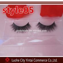 2015 New 3D mink eyelash 100% real mink fur Handmade crossing lashes individual strip thick eyelash extension