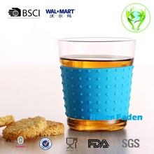 heat insulation design transparent handmade heat-resisting glass mug,tea cup